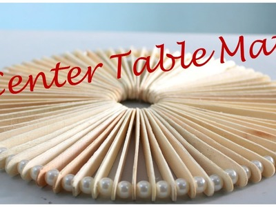 How to make a center table mat from Ice cream sticks. Popsticks I DIY Table mat I Creative Diaries