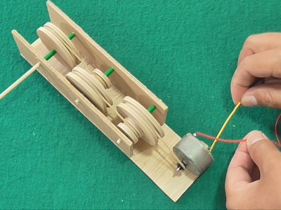 How to Make a Gearmotor with Pulleys