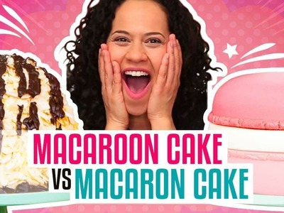 How To Make A Giant Coconut Macaroon & French Macaron out of CAKE | Yolanda Gampp | How To Cake It