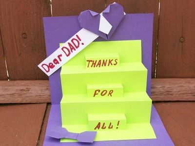 How to Make a Greeting Card For Dad. Pop Up Handmade Cards For Birthday, Father's Day