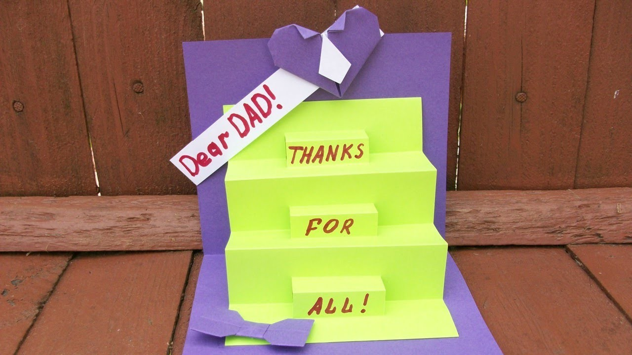 how to make a greeting card for dad pop up handmade cards