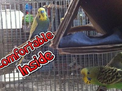 How to make a homemade cardboard birdhouse| Comfortable bird house for budgies