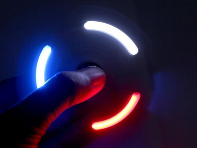 How To Make A LED Hand Spinner using Glue Gun
