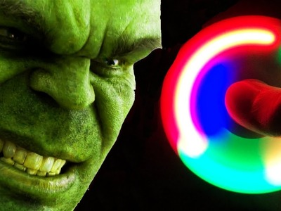 How To Make A LED Hand Spinner - Made By HULK