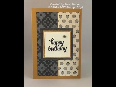 How to make a masculine birthday card