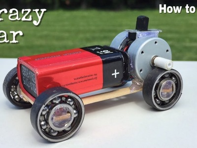 How to Make a Mini Car Using Bearings - Powerful Electric Car with Double Engine - Amazing idea