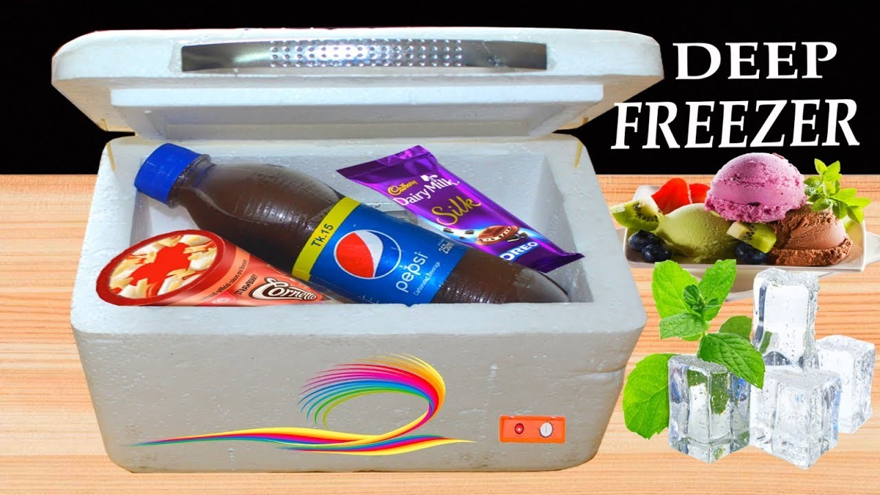 How to make a Mini Deep Refrigerator at home - very easy way
