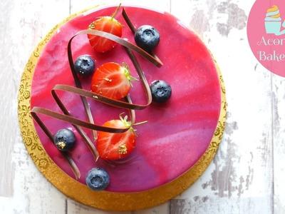 HOW TO MAKE A MIRROR GLAZE CAKE | Recipe & Tutorial | Acorn Bakes