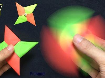 How To Make A Paper Fidget Spinner - Origami Fidget Spinner