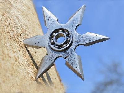 How To Make A Steel Shuriken Fidget Spinner. Making A Steel Shuriken Fidget Spinner