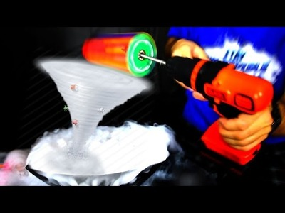 HOW TO MAKE A TORNADO WITH DRY ICE AND FIDGET SPINNERS  (Amazing DIY Spinner Trick)