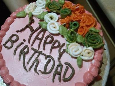 How to make Birth Day Cake برتھڈےکیک WITH ZAREEN FATIMA (URDU.HINDI)