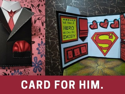 How to make birthday card for father \brother\boy friend\suit tuxedo card