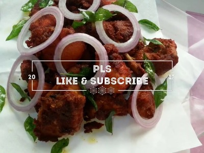 How to make Chicken fry with natural red colour easy recipe (Malayalam)