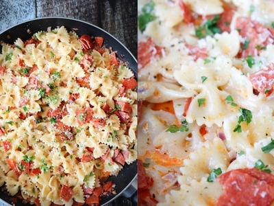 How To Make Creamy Pepperoni Pasta - No Shame Saturday - By One Kitchen