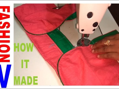 How to make Designer Blouse at Home-49||Designer Bridal Back Neck Blouse Pattern - 2017||stitching