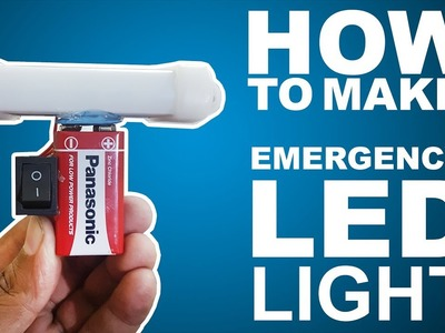 How To Make Emergency LED Light- Easy Way
