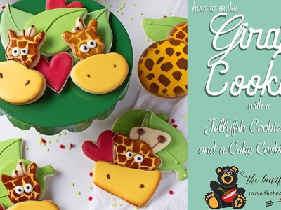 How to Make Giraffe Cookies with a Jellyfish Cookie Cutter