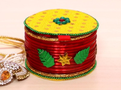 How To Make Jewelry Box | Jewellery Box Making at Home Using Bangles