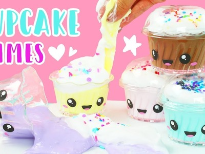 How to Make Kawaii Cupcake Scented Fluffy Slime! ????