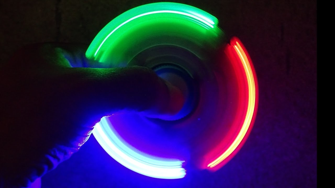 How To Make  LED Hand Spinner at home  II Fidget Toy II