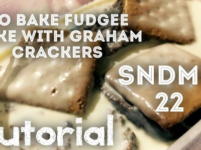 How to make No Bake Fudgee Cake with Graham Crackers (What kids can do on summer)(Philippines)