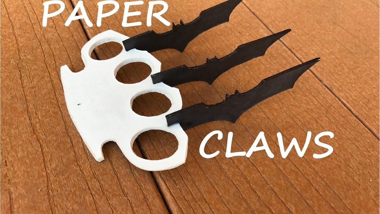 How To Make Paper Batman Wolverine Claws!!