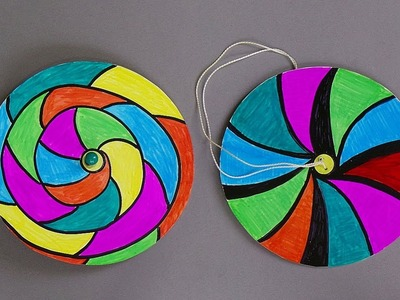 HOW TO MAKE PAPER SPINNERS. EASY PAPER CRAFTS FOR KIDS