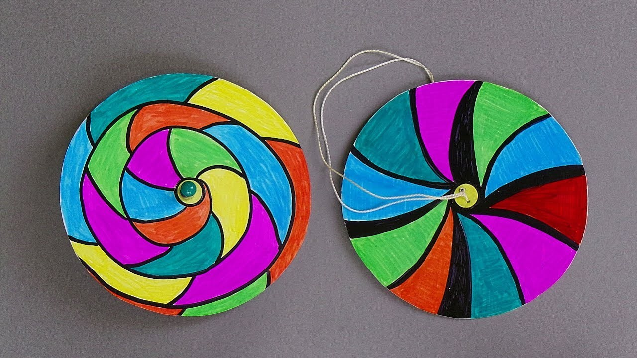 How to make paper spinners easy paper crafts for kids for How to make paper projects