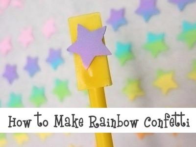 How to Make Rainbow Confetti