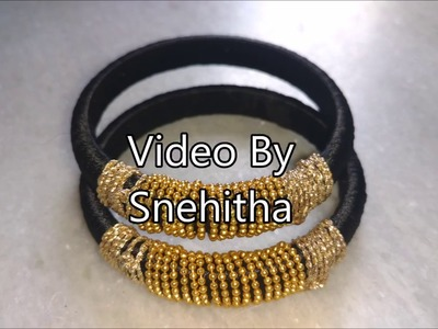 How to make silk thread bangles at home, indian silk thread bangles,silk thread raw materials online