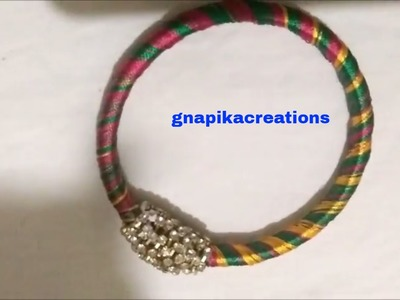 How to make silk thread multi color bracelet model