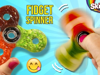 How to make SKITTLE Fidget SPINNER * ¡¡FIDGET Spinner COMESTIBLE!!  ✅  Top Tips & Tricks