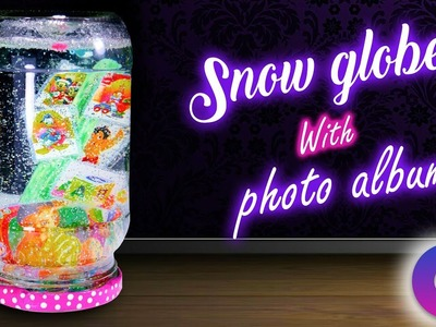 How to make snow globe with photo album inside the jar | best out of waste | Artkala 203