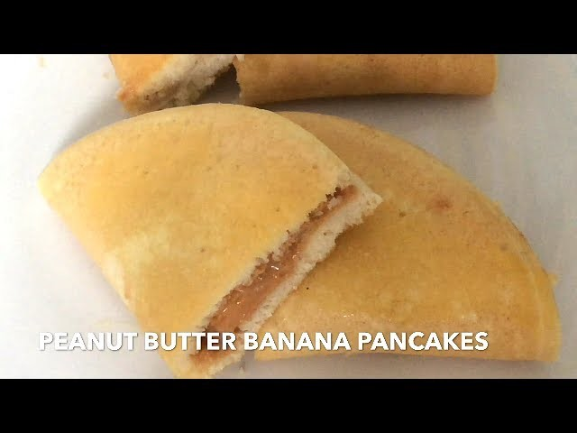 HOW TO MAKE THE BEST PEANUT BUTTER BANANA PANCAKES