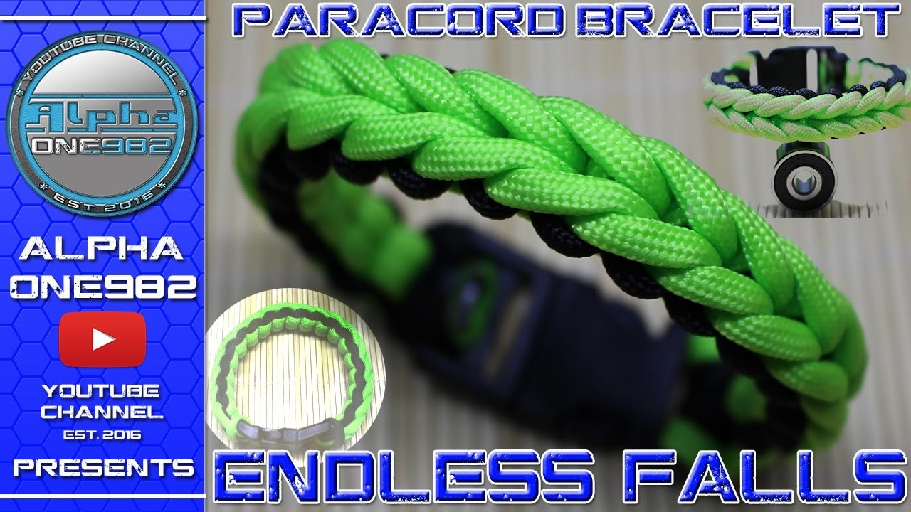 How To Make The Endless Falls Paracord Survival Bracelet With Buckle Fast Easy Simple