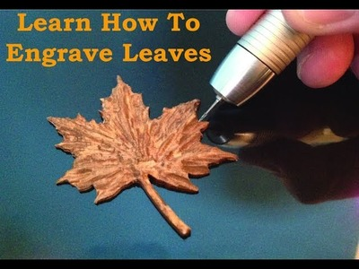 Learn How To Carve Wood Leaves Carving With the Power Carver 400,000 rpm