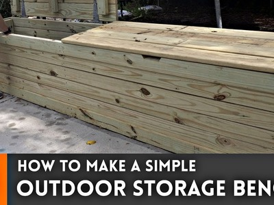 Outdoor Storage Bench. Woodworking How To