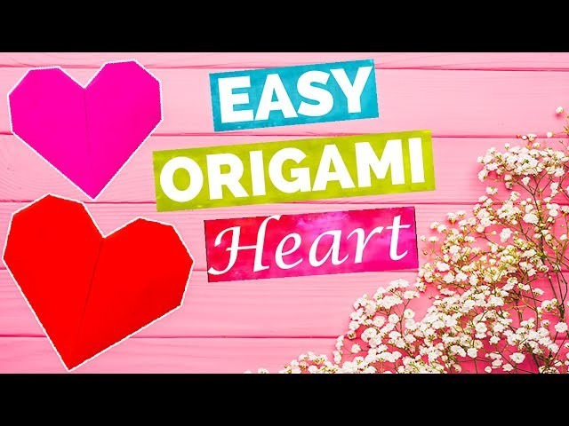 how to make simple origami heart