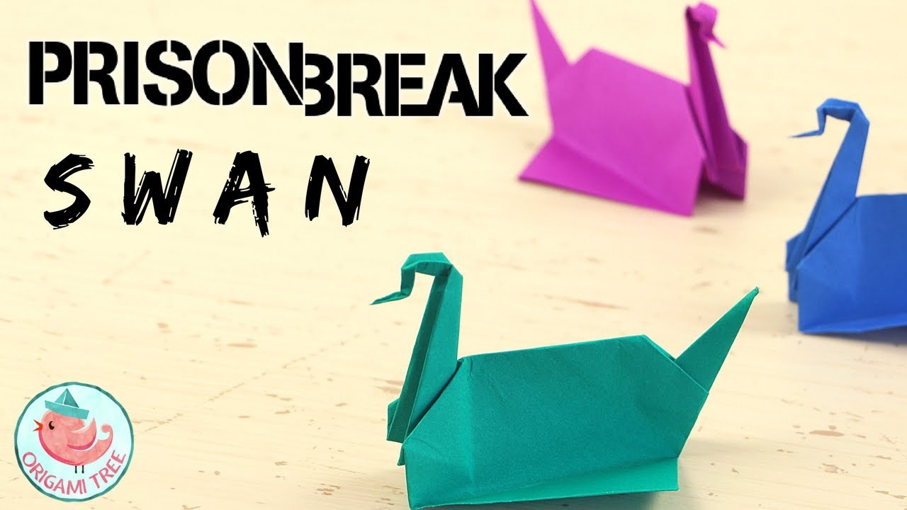 prison break origami swan tutorial how to make michael