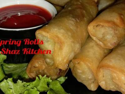 Spring Rolls_Ramadan Special Recipe(In Urdu.Hindi)How To Make Spring Roll_Roll Patti,Filling&Folding
