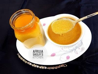 খাঁটি গাওয়া ঘি | Homemade Ghee | How to Make Ghee at Home | Ghee from Milk Cream | Clarified Butter