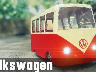 Volkswagen Van- How to make Volkswagen T1 Camper Van using cardboard