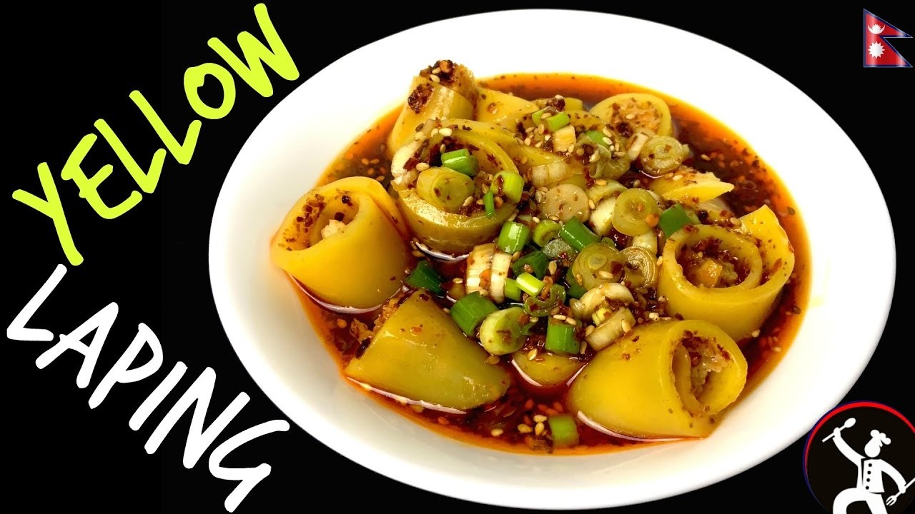 Yellow Laping Recipe How To Make Laping Laphing Nepali