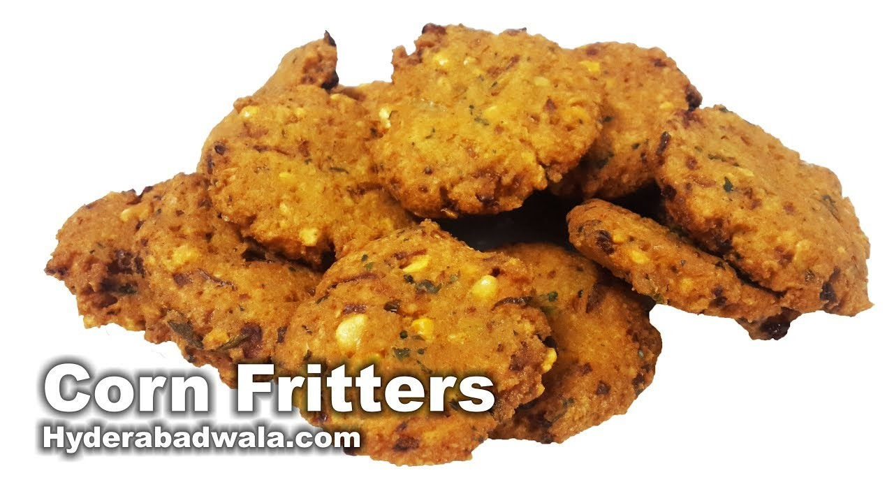Corn Vada Recipe Video - How to Make Corn Fritters at Home - Easy, Quick & Simple