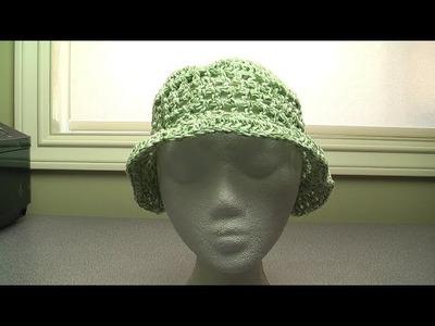 Crochet a summer beach hat