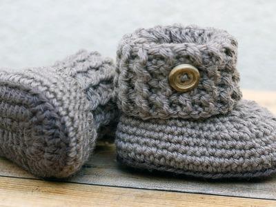 Crochet Baby Booties Bulky Yarn