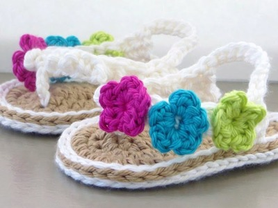 Crochet Baby Sandals Tutorial
