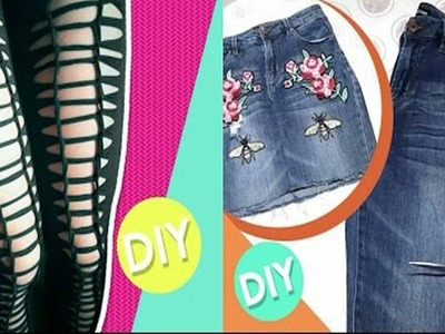 DIY Clothes - Make Your Clothes New Again - How to Transform your OLD T-SHIRTS !! (NO SEW)