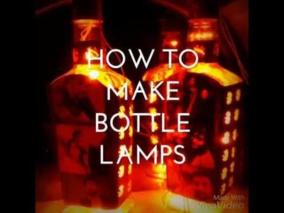 DIY -  EASY BOTTLE LAMPS | HOW TO MAKE BOTTLE LAMPS (With pictures)